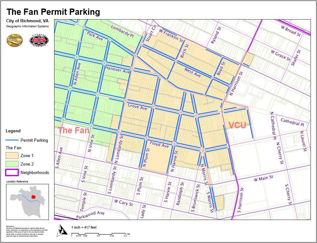 fan district association - parking